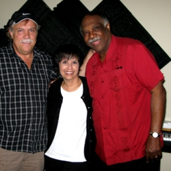 L-R Doug Wayne, Diane and Houston Person at Mastermind Studio