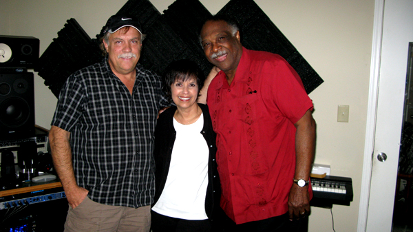 L-R Doug Wayne, Diane and Houston Person at Mastermind Studio