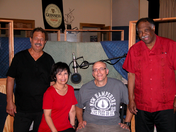 L-R Frank Marino, Diane, Chris Brown and Houston Person at Wildwood Studio