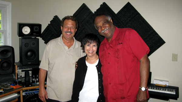 L-R Frank Marino, Diane and Houston Person at Mastermind Studio